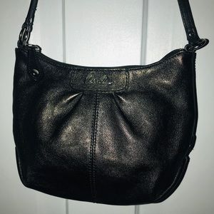"Coach Black leather Swing bag 6"" x 6"""